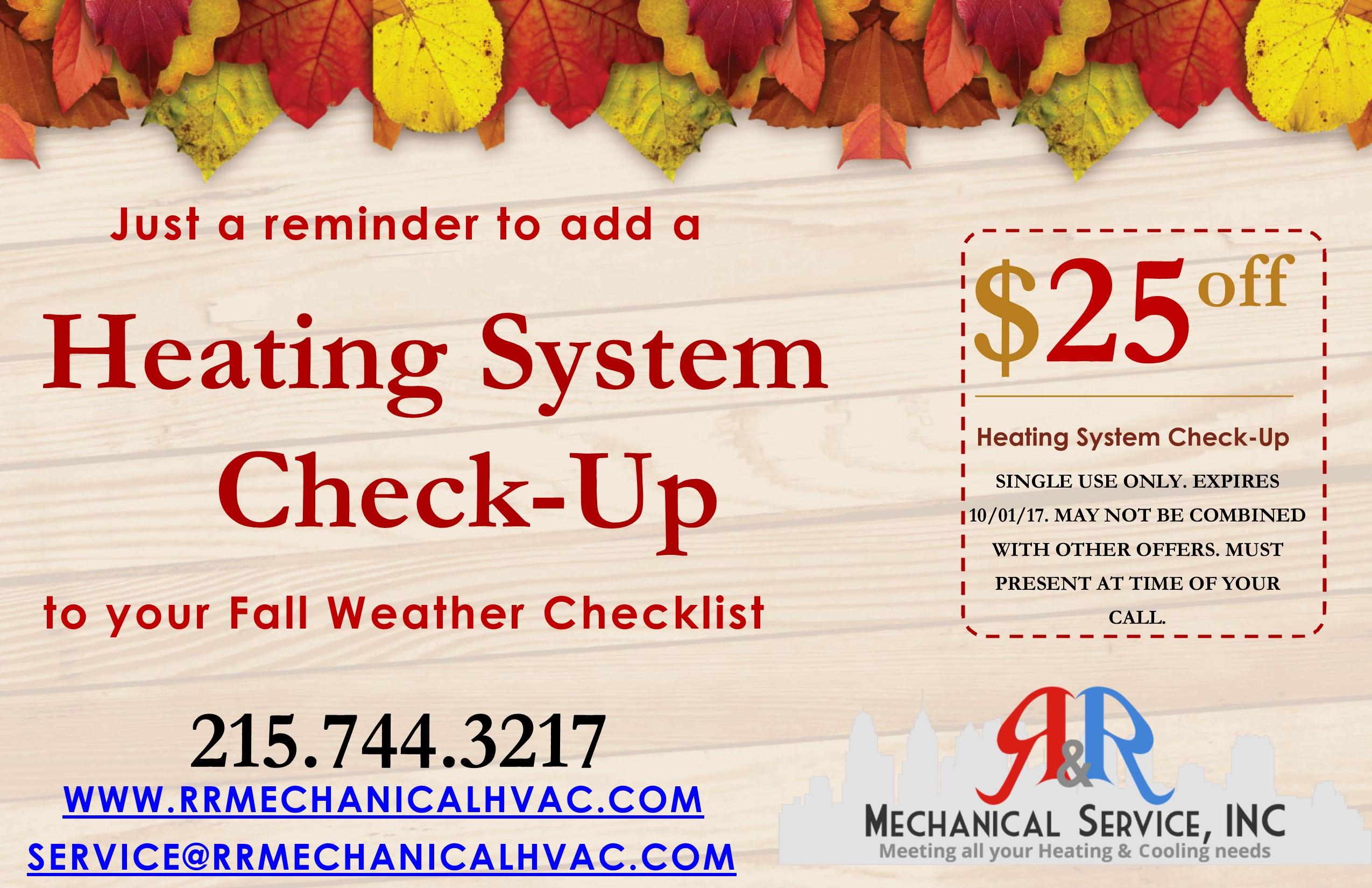 Fall Weather Checklist HVAC